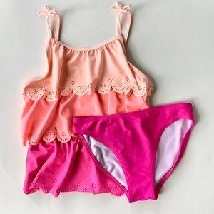 Girls Pink Layered Swimsuit Tankini-OshKosh B'gosh